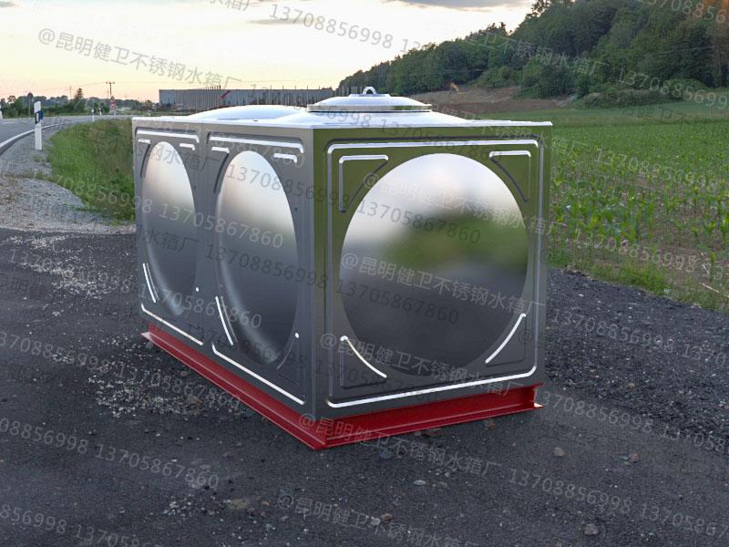2吨方形组合式不锈钢水箱